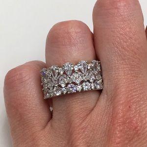 Jewelry - 14k white gold diamond eternity band ring wedding